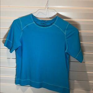 L.L. Bean blue rashguard